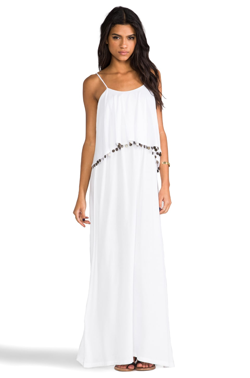 Nookie Beach Love Aesthetics Frilled Maxi in White