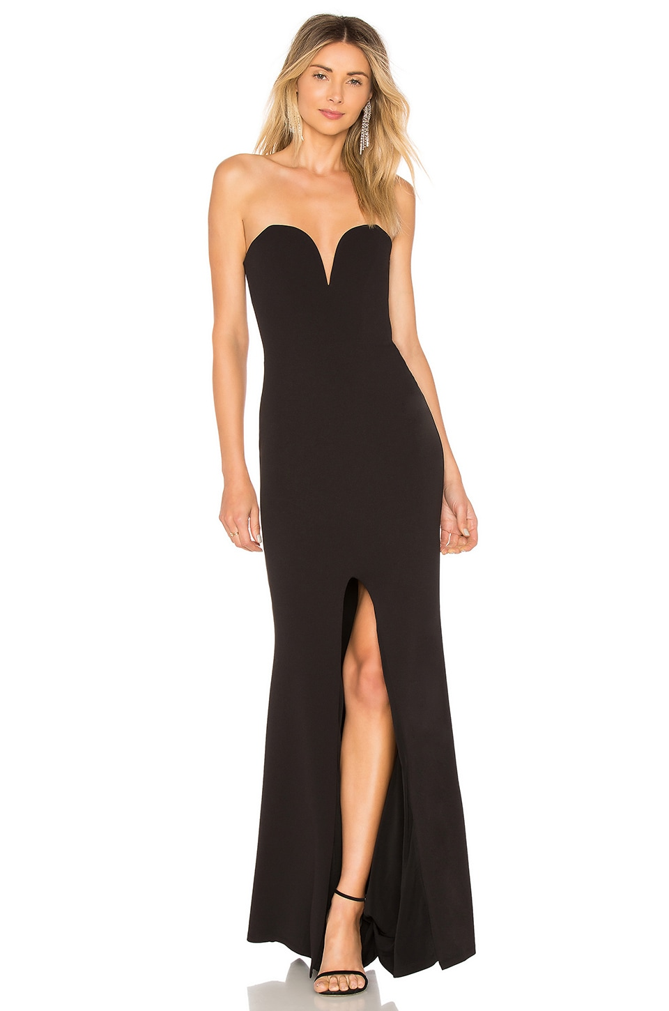 NOOKIE HONEY STRAPLESS GOWN, BLACK | ModeSens