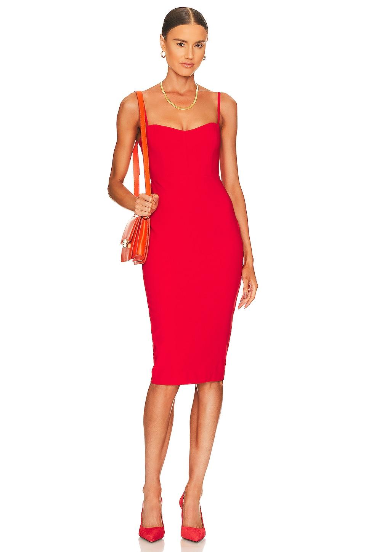 Nookie Allure Midi Dress in Cherry