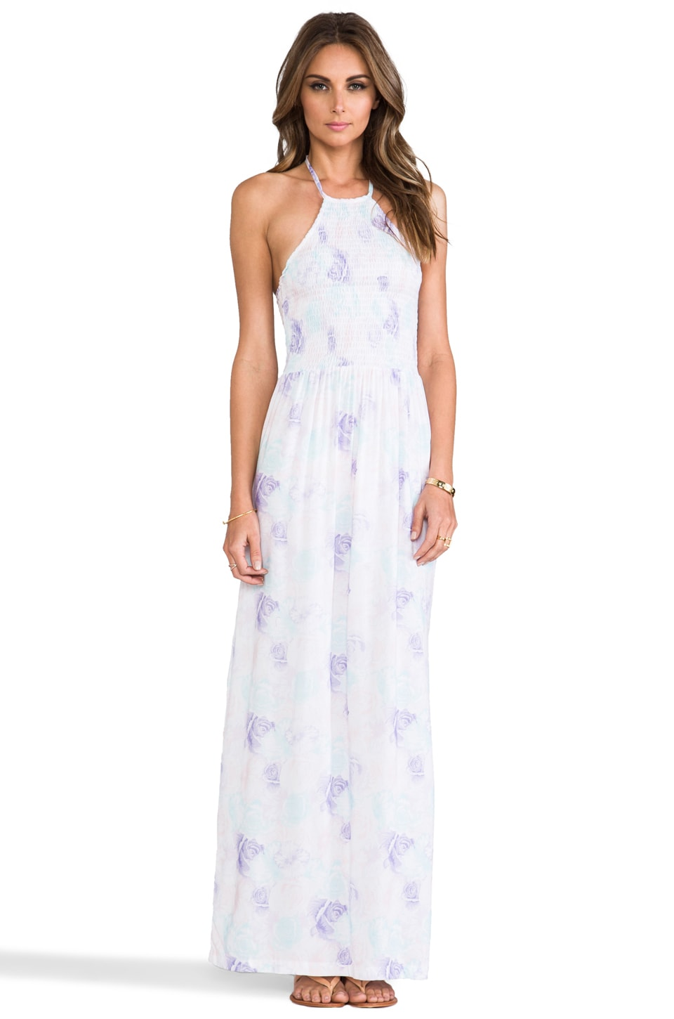 Nookie Beach Hermosas Flores Maxi Dress in White