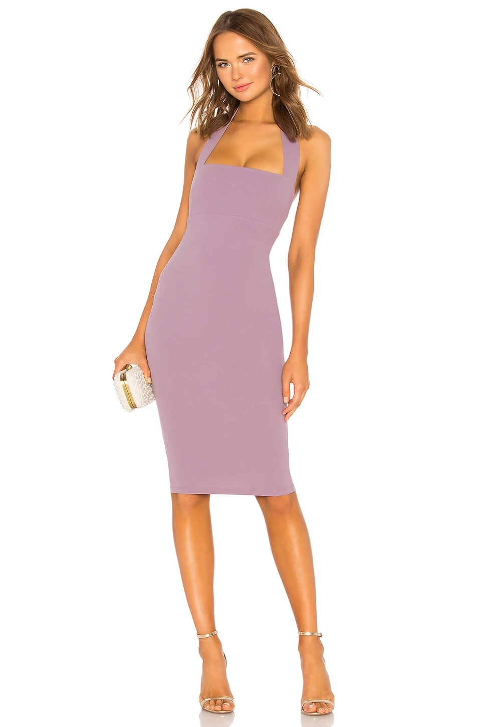 Nookie X Revolve Boulevard Midi Dress in Soft Violet