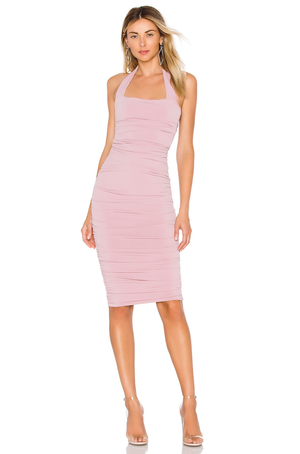 Nookie Jolie Halter Midi in Dusty Pink