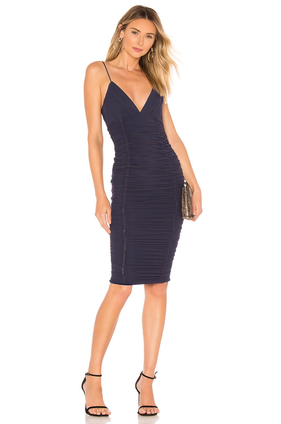 NOOKIE Ambition Midi Dress in Blue