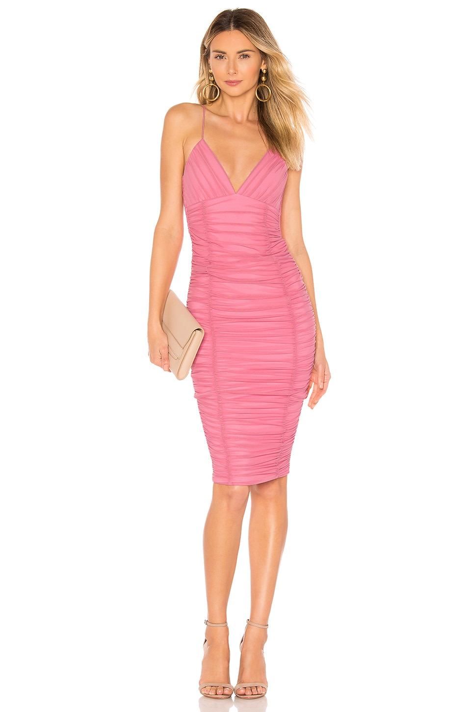 NOOKIE Ambition Midi Dress in Pink