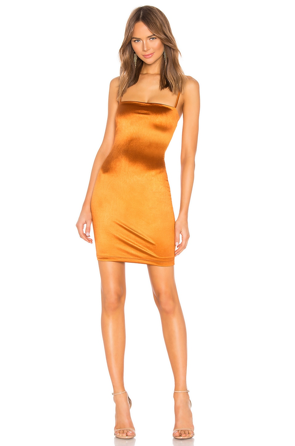 Nookie x REVOLVE Charlize Mini Dress in Rust