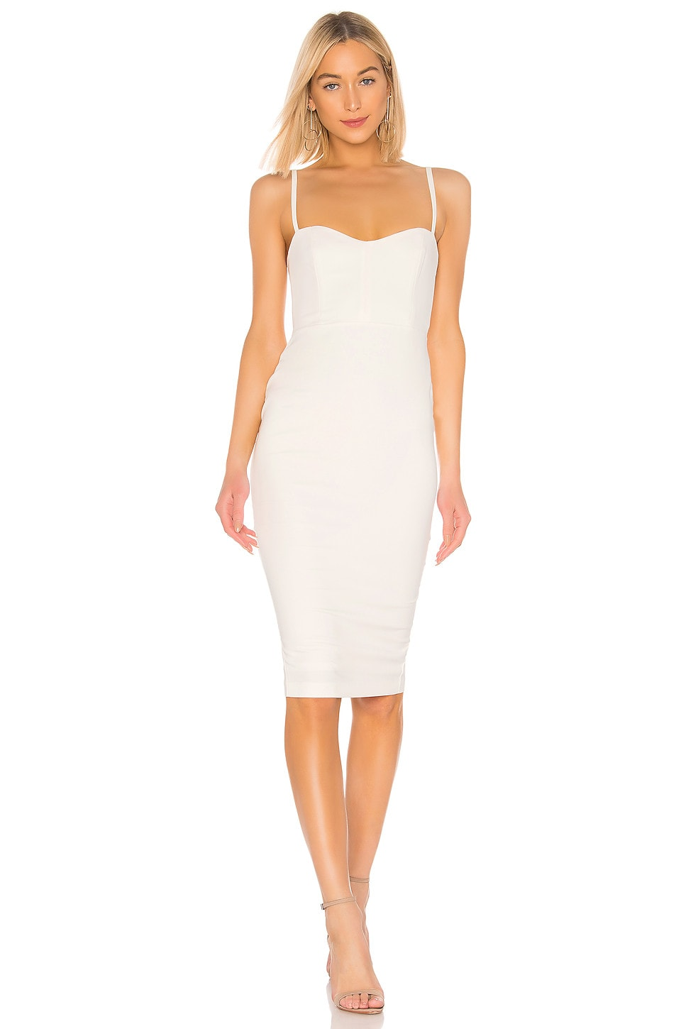 Nookie Allure Midi Dress in White
