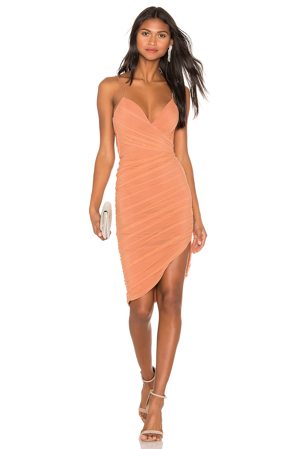 Nookie Moscow Mini Dress in Tan