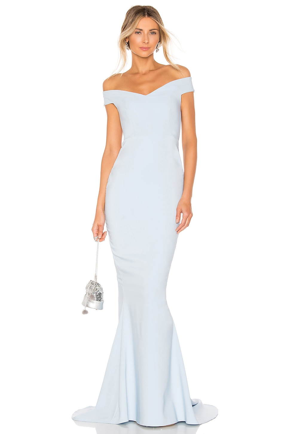Nookie x REVOLVE Allure Gown in Dusty Blue