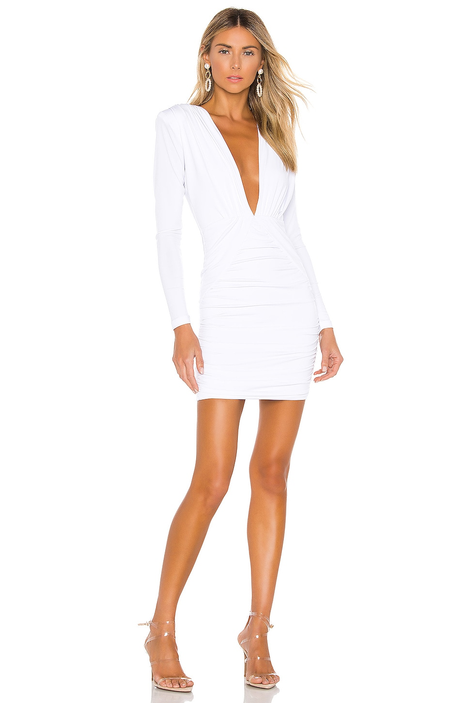 Nookie Temptation Long Sleeve Mini Dress in White