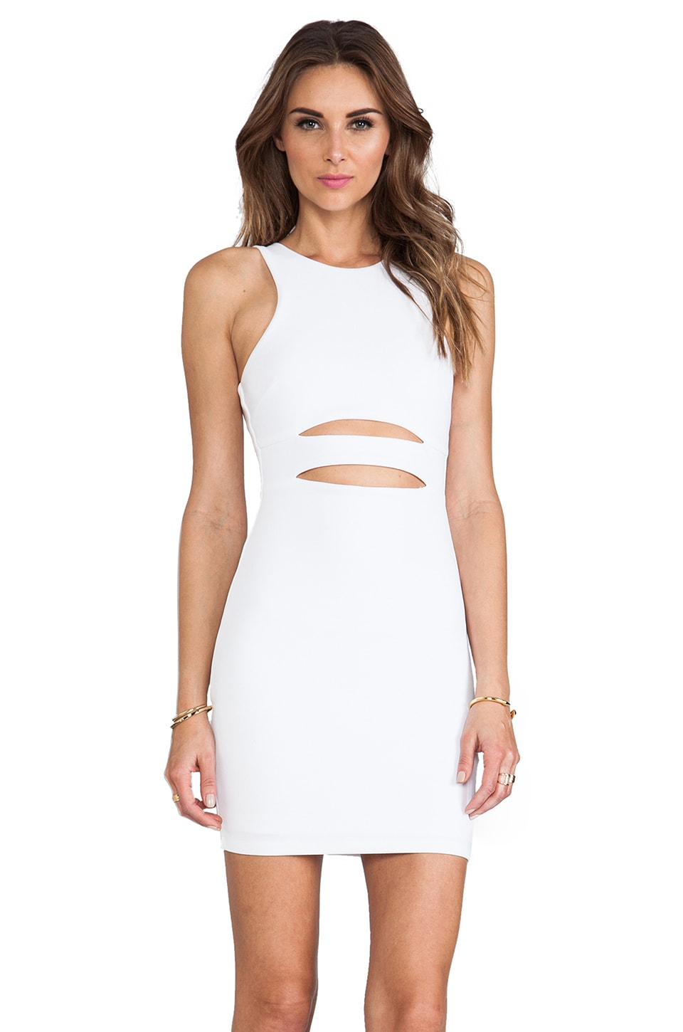 Nookie Top Gun Dress in White