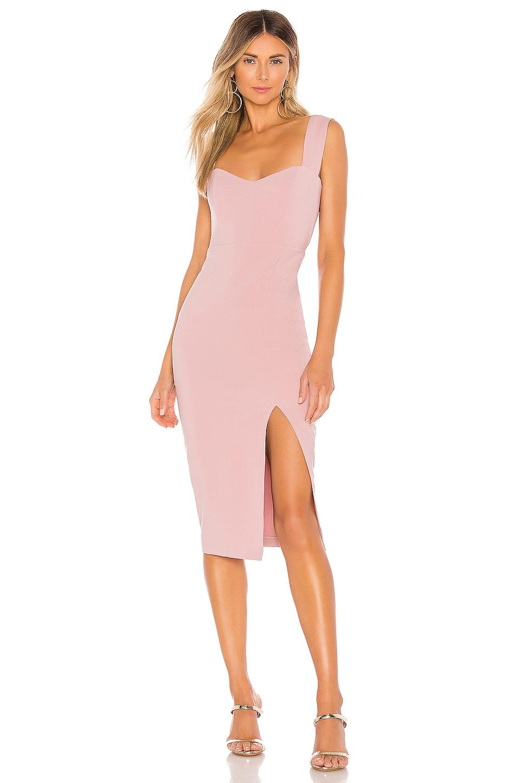 Nookie Divine Midi Dress in Dusty Pink