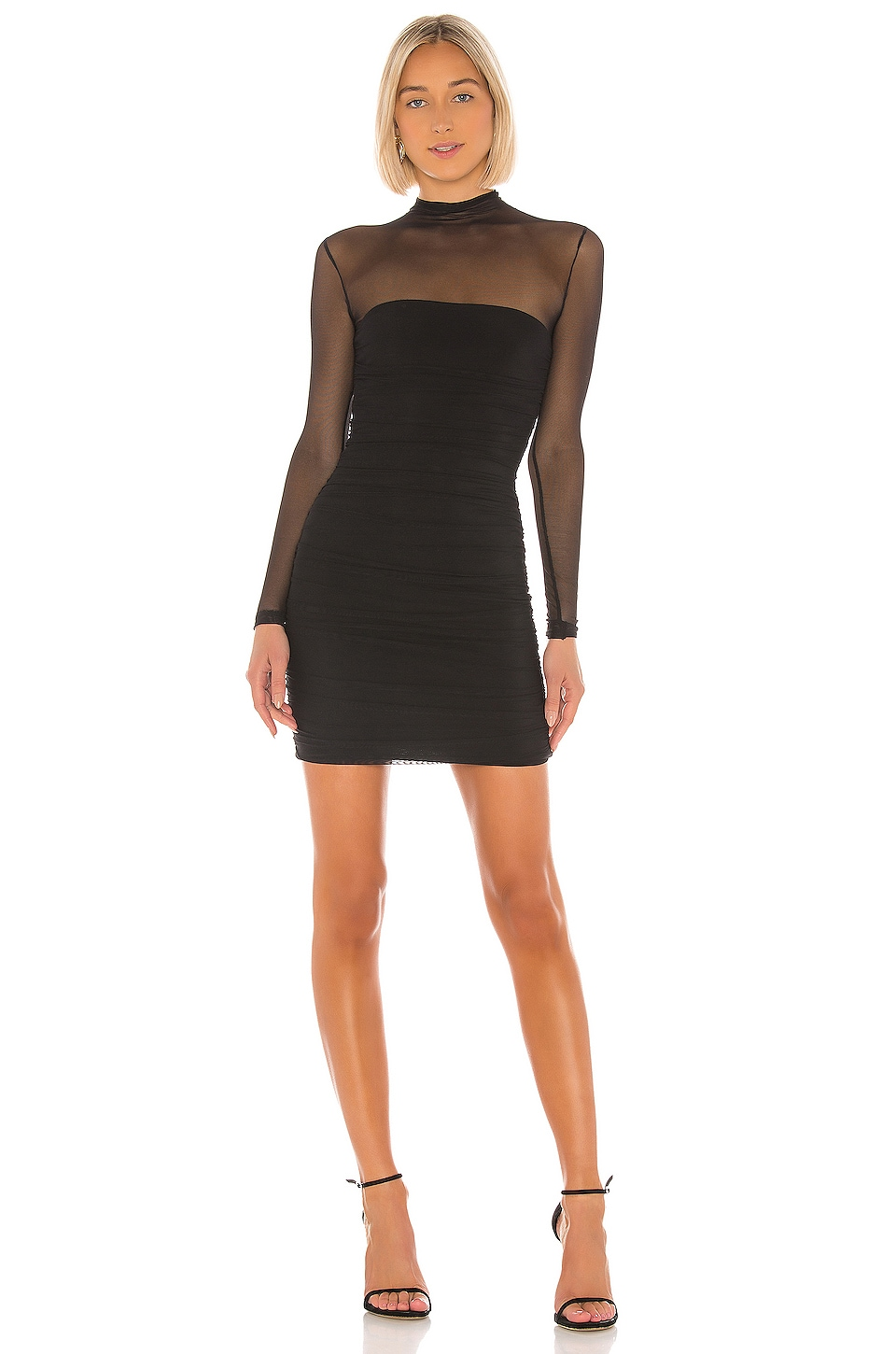Nookie Poison Long Sleeve Mini Dress in Black