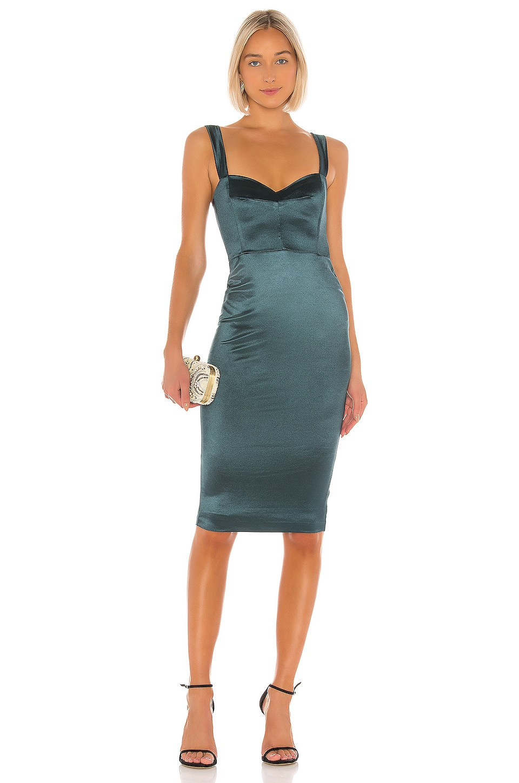 Nookie Slay Midi Dress in Emerald