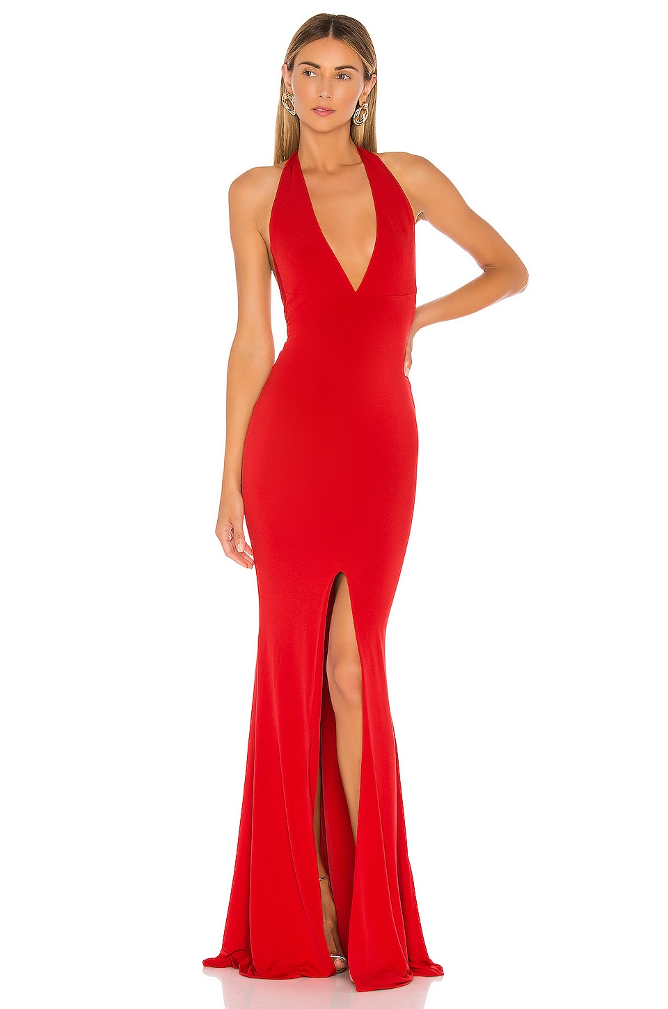 Nookie Illegal Halter Gown in Red