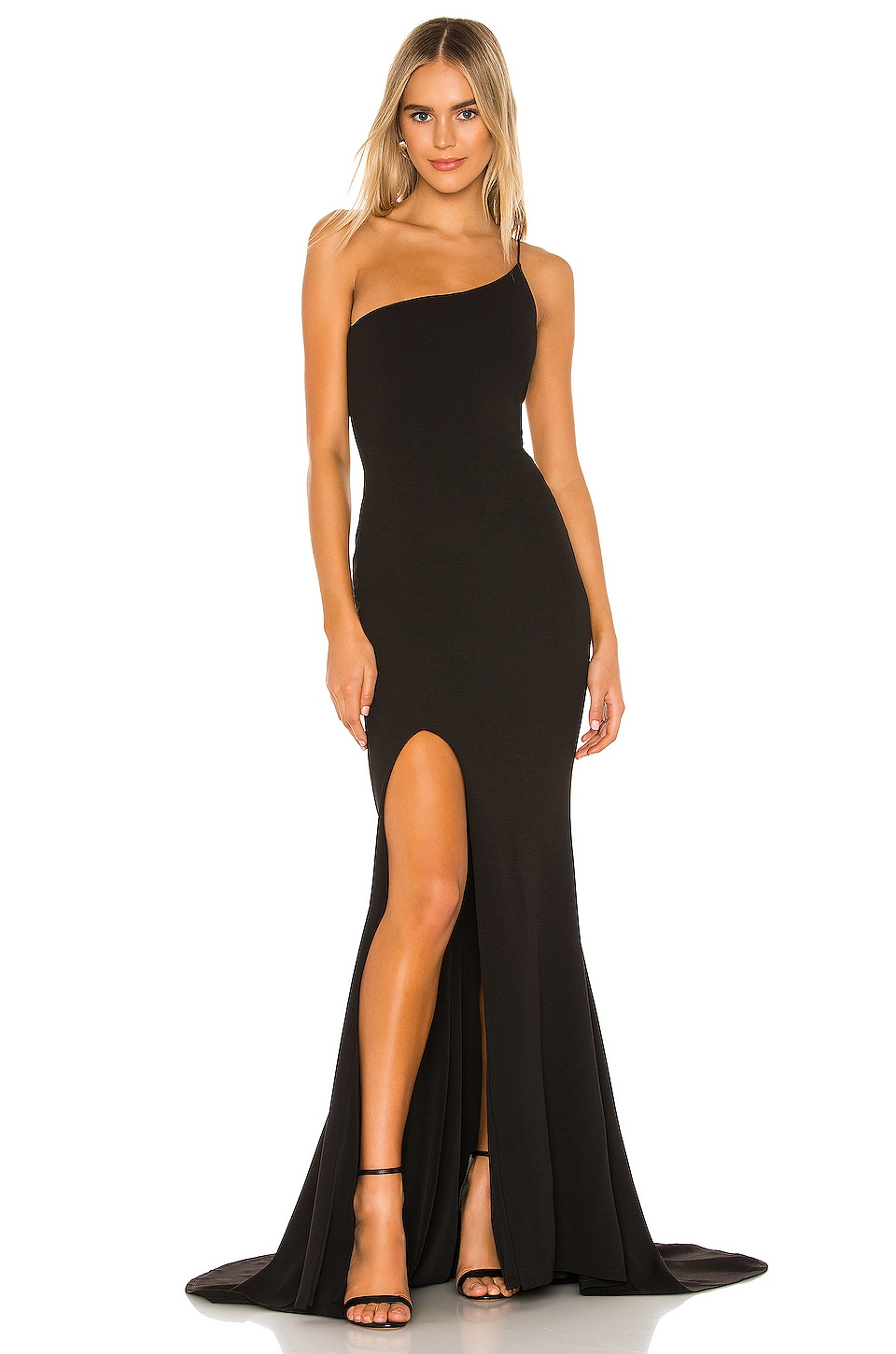 Nookie Jasmine One Shoulder Gown in Black