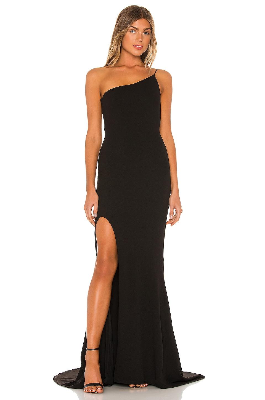 Nookie Jasmine One Shoulder Gown in Black