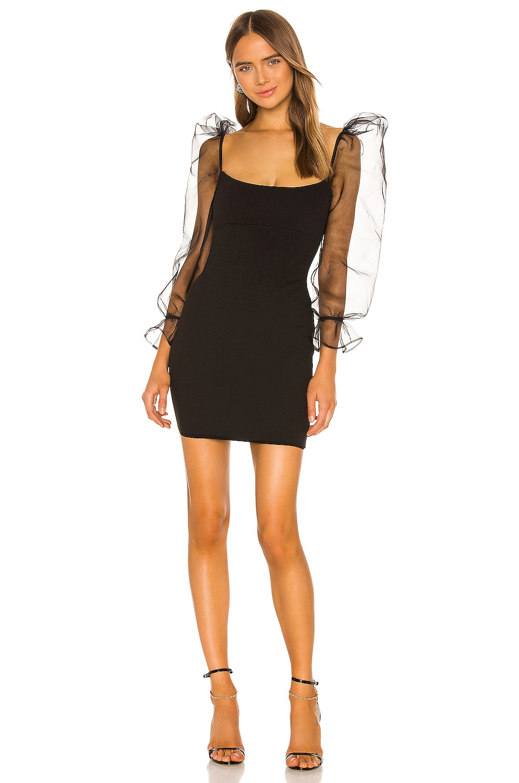 Nookie Eleganza Long Sleeve Mini Dress in Black