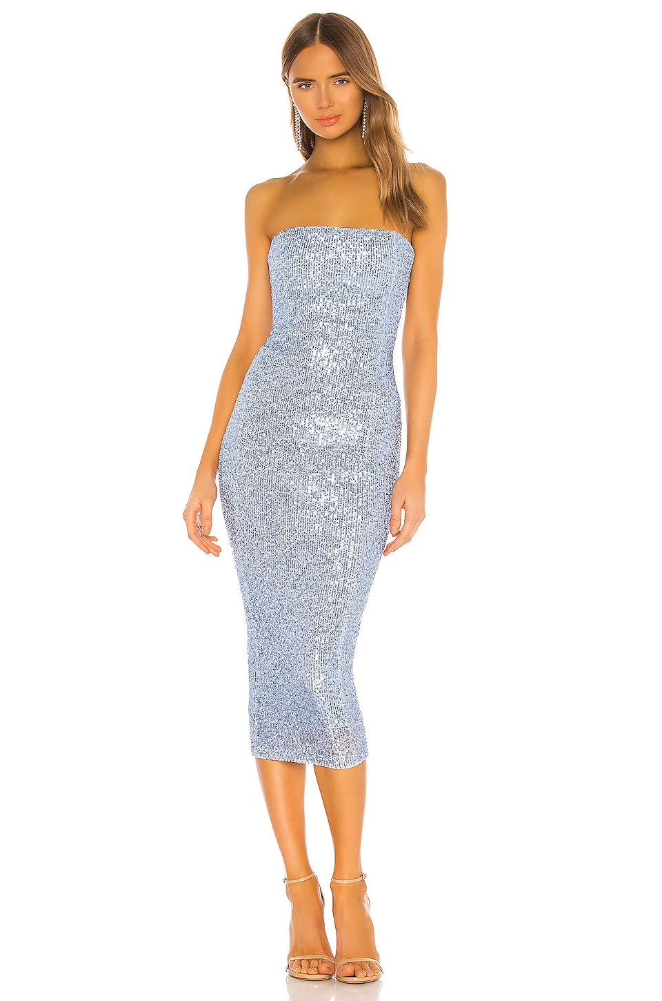 Nookie X Revolve Fantasy Midi Dress In Light Blue Revolve Buy luxury fashion at outlet prices at the outnet. nookie