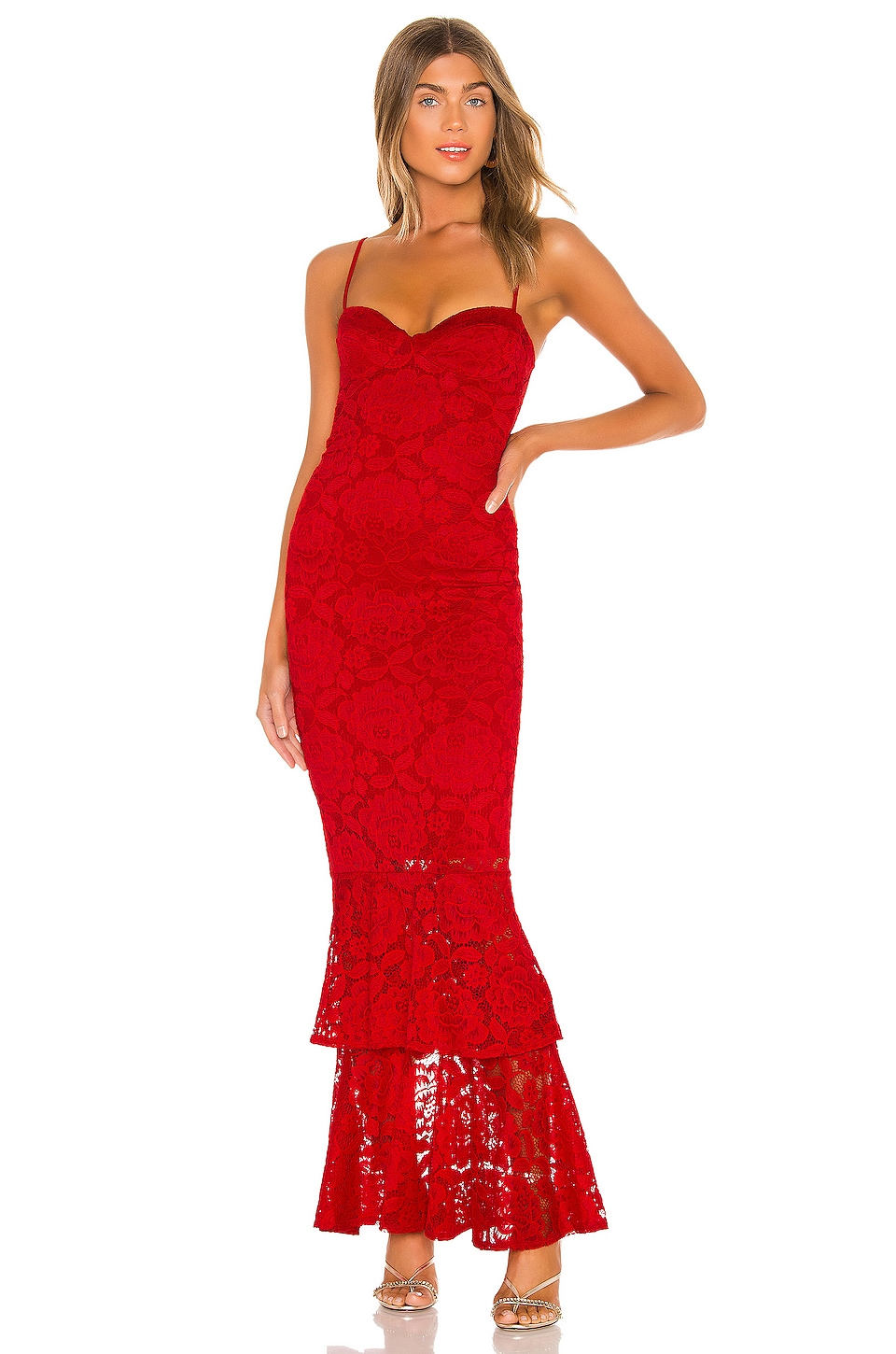 Nookie Liana Lace Gown in Red