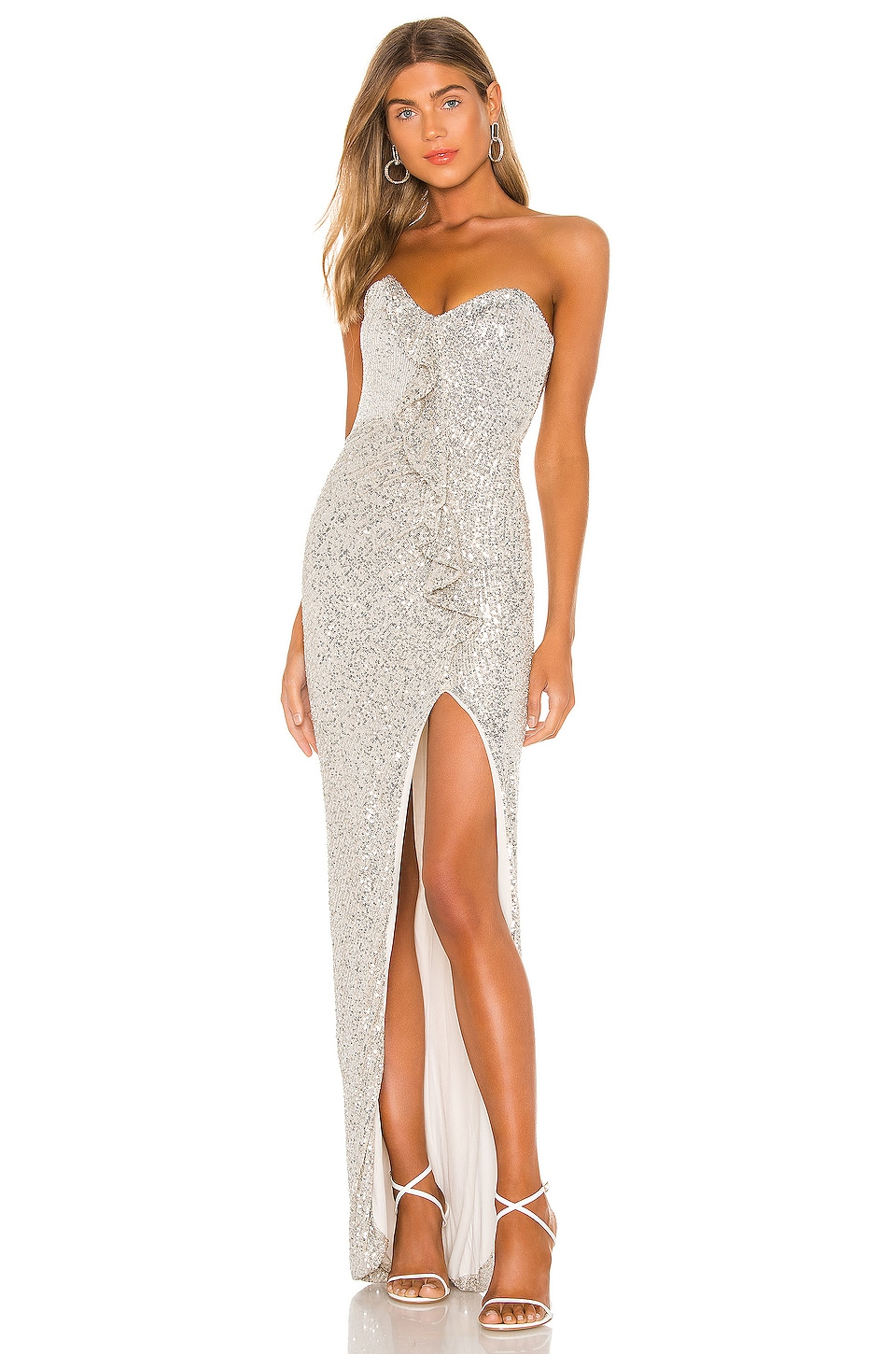 Nookie Galaxy Gown in Silver