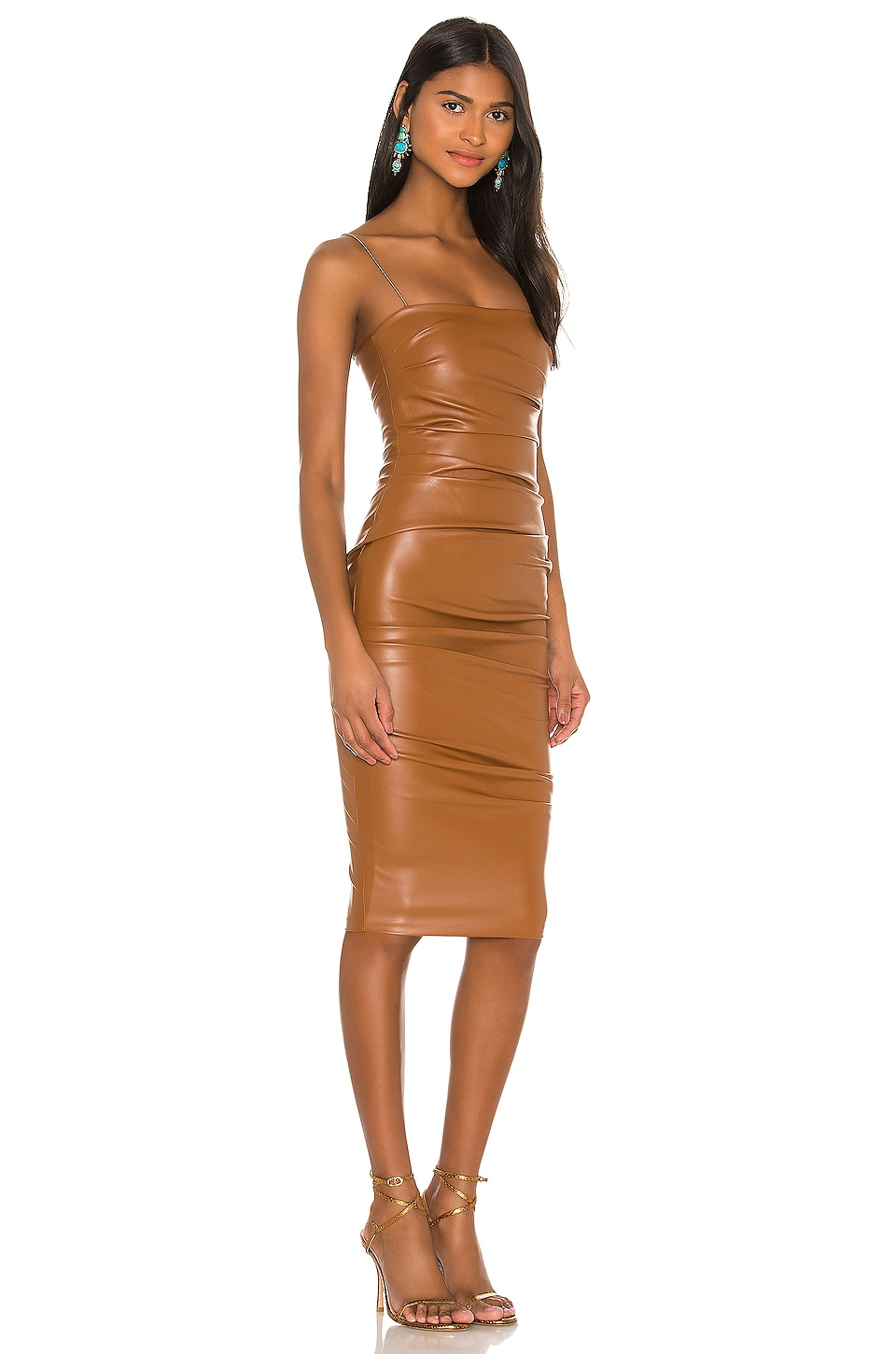 Posse x REVOLVE Faux Leather Midi Dress, view 2, click to view large image.