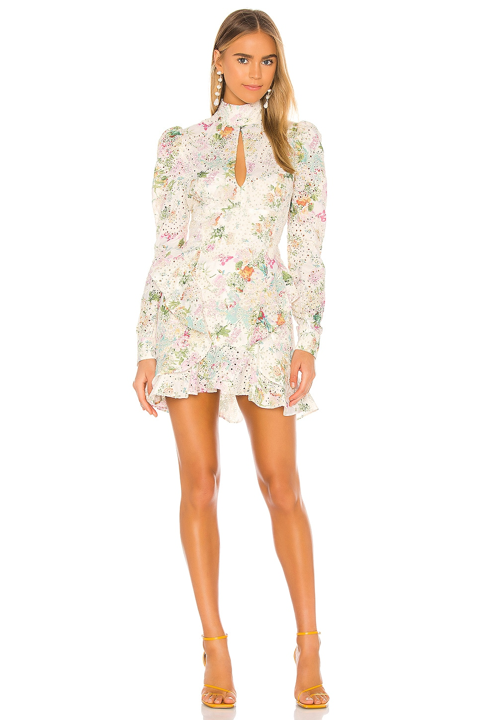 Nookie Darling Long Sleeve Mini Dress In Floral Revolve Online shopping south africa buy clothes & shoes.fashionhub. nookie