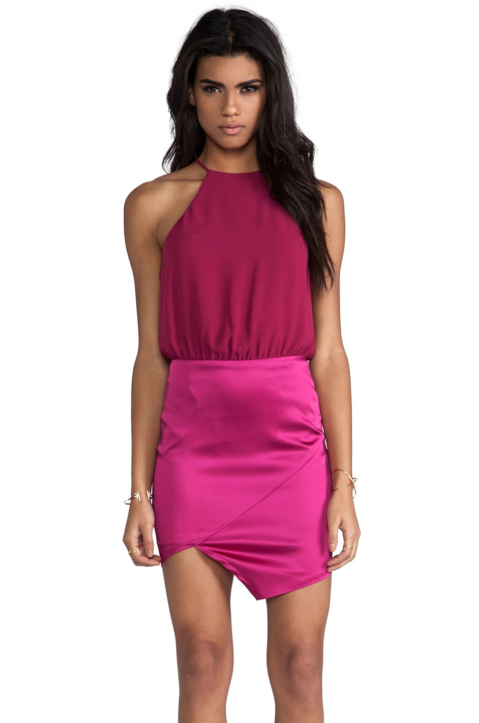 Nookie Royals Halter Dress in Fuchsia