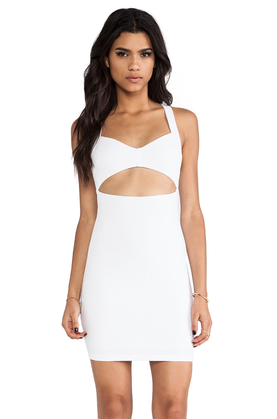 Nookie Miss Monroe Bodycon Dress in White