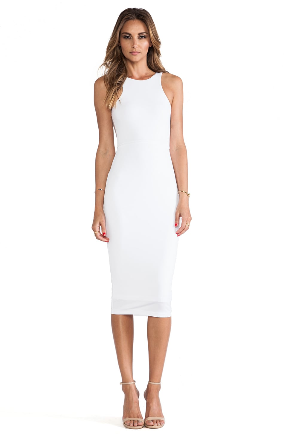 Nookie Dolce Vita Bodycon Dress in White