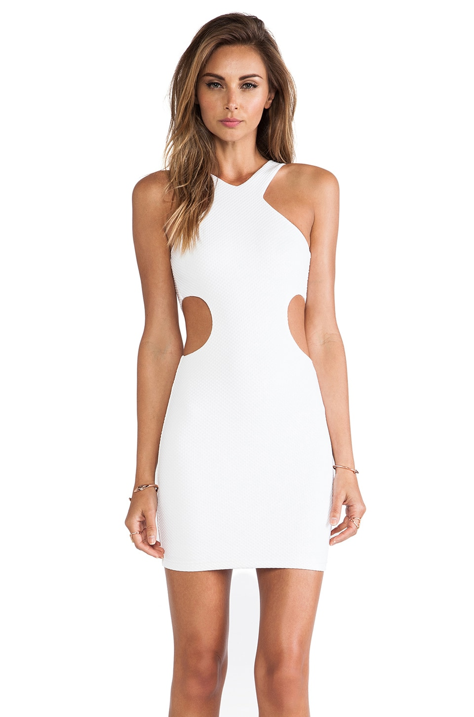 Nookie Pucker Up Dress in White