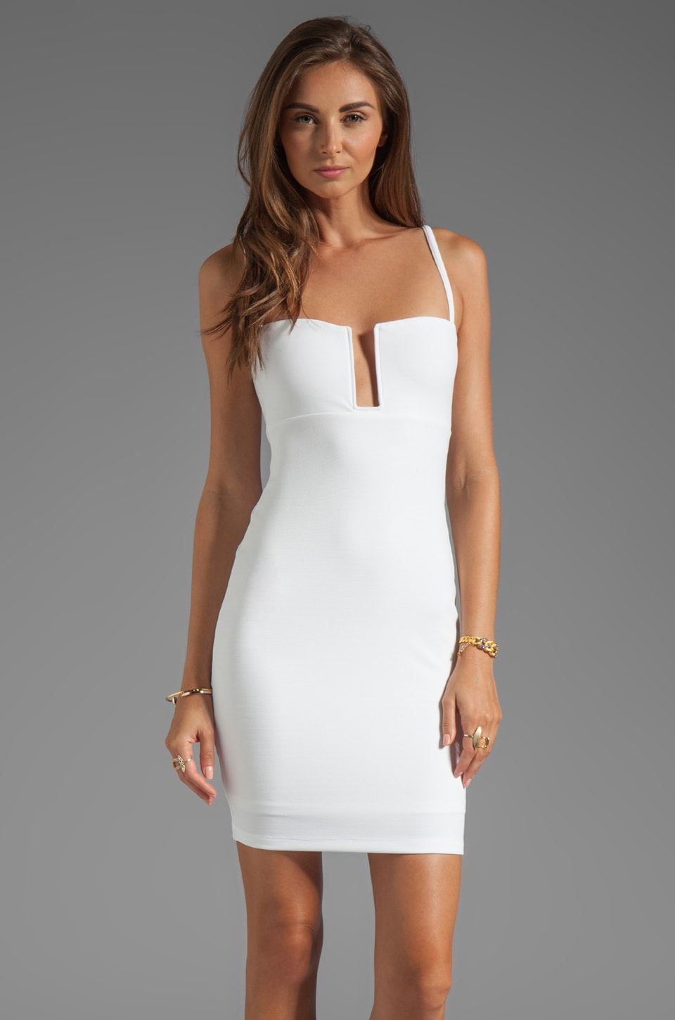 Nookie Stadium II Bustier Dress in White