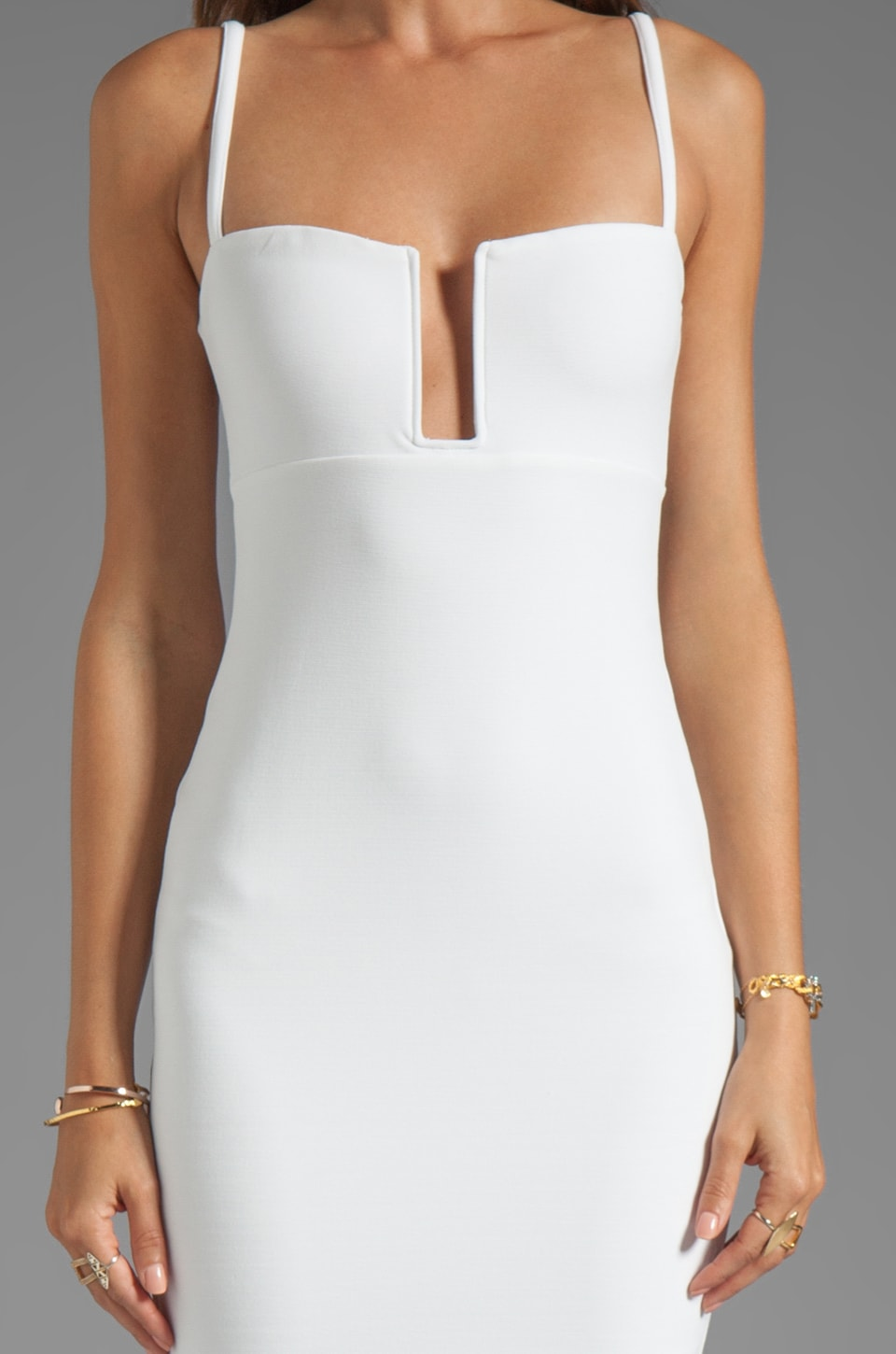White Bustier Dress