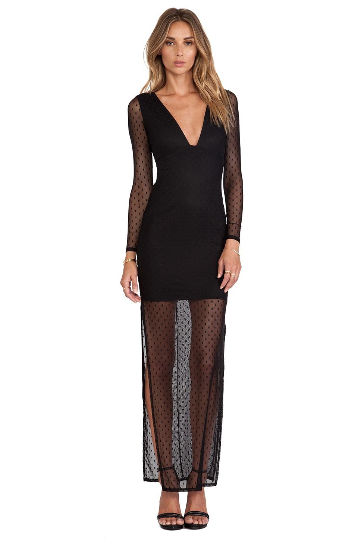 Nookie Wink Maxi Dress in Black