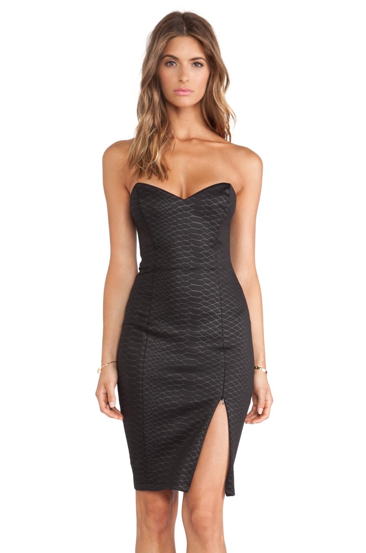 Nookie Snake Eyes Bustier Dress in Black
