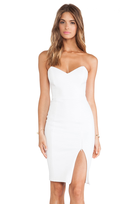 Nookie Snake Eyes Bustier Dress in White - REVOLVE