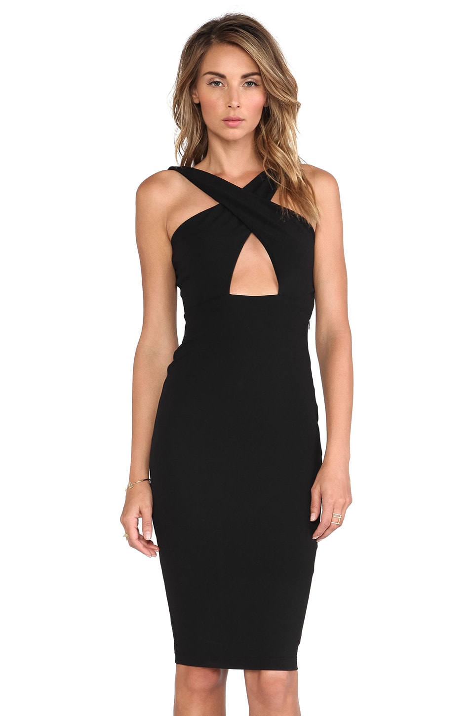 Nookie Marylin Convertible Shift Dress in Black