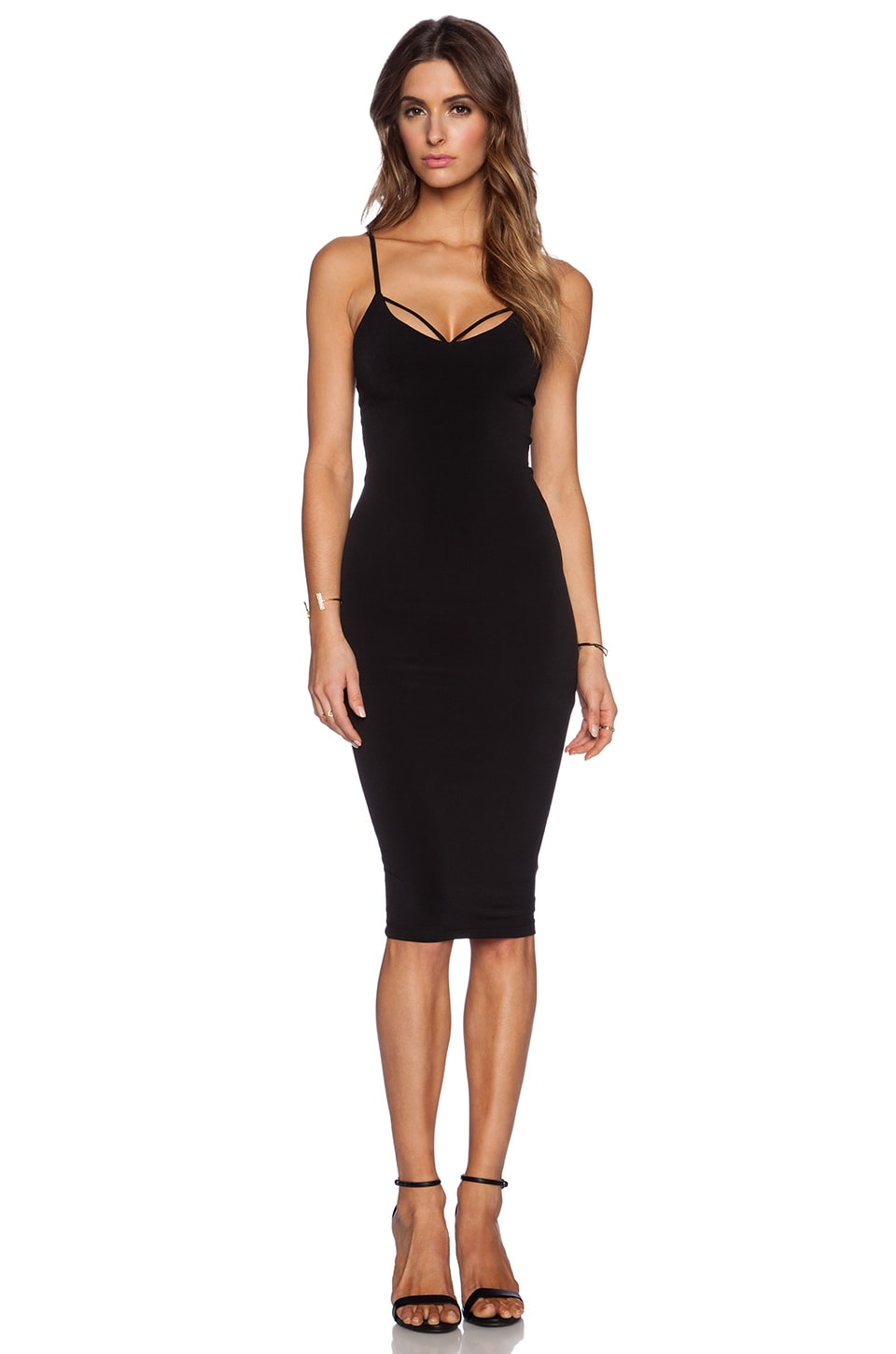 Nookie Mi Amore Backless Shift Dress in Black | REVOLVE