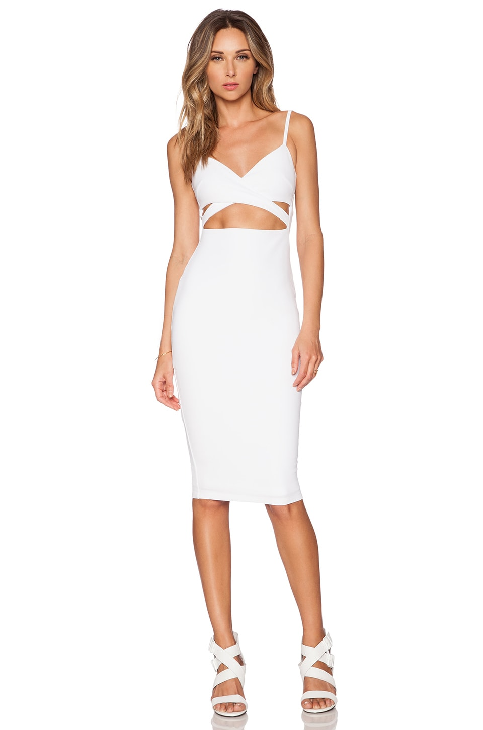 Nookie Heidi Bodycon Dress in White