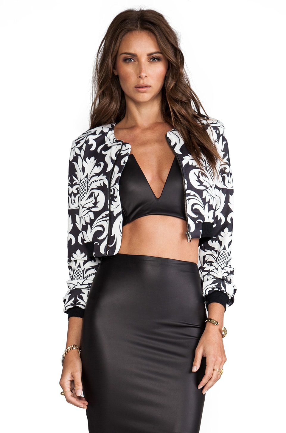 Nookie Baroque Bomber Jacket in Black