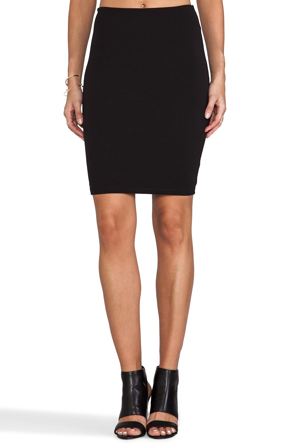 Nookie Stadium Pencil Skirt in Black