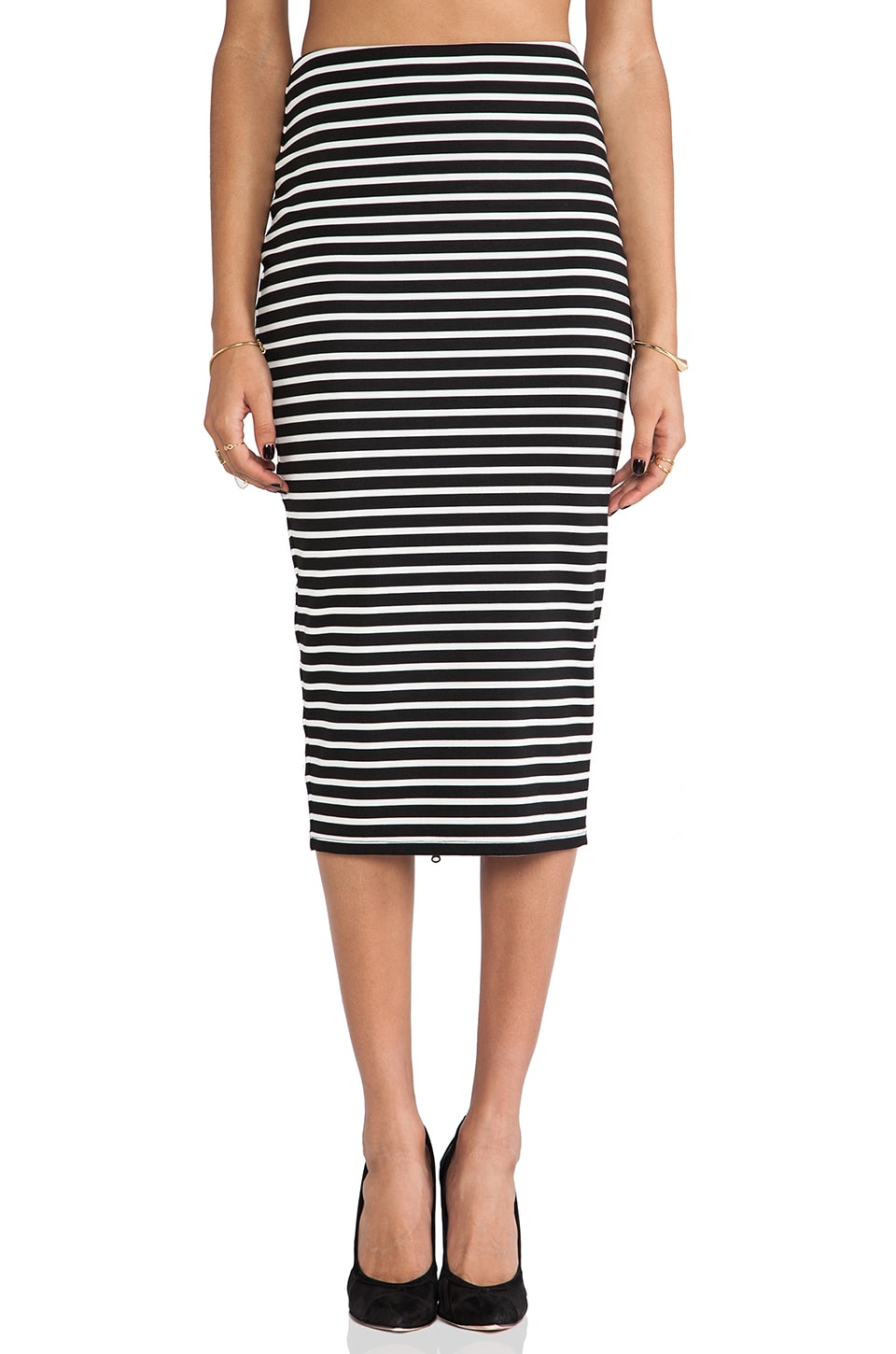 Nookie Maestro Pencil Skirt in Black