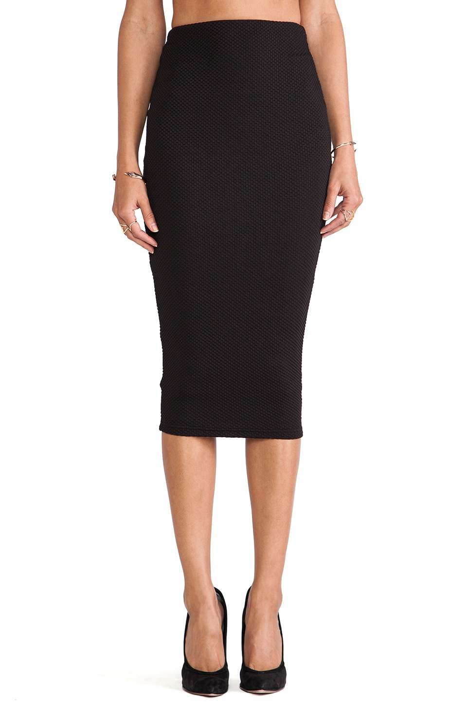 Nookie Pucker Up Pencil Skirt in Black