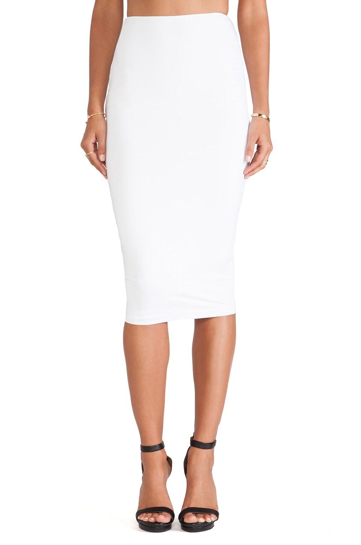 Nookie Casino Pencil Skirt in White