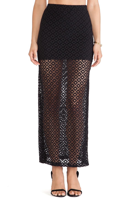 Nookie Beach Kokomo Maxi Skirt in Black