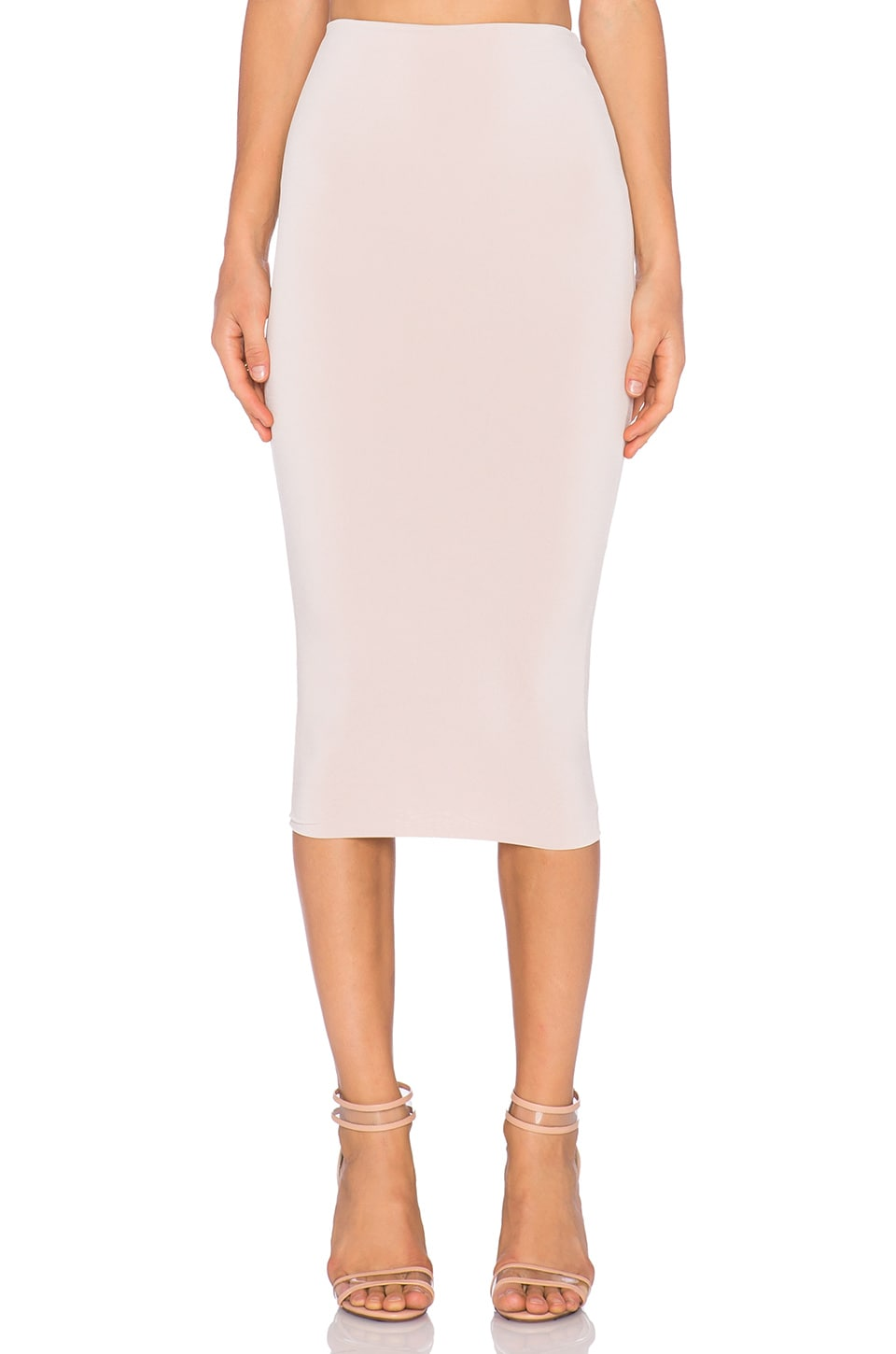 Nookie Dolce Vita Pencil Skirt in Nude