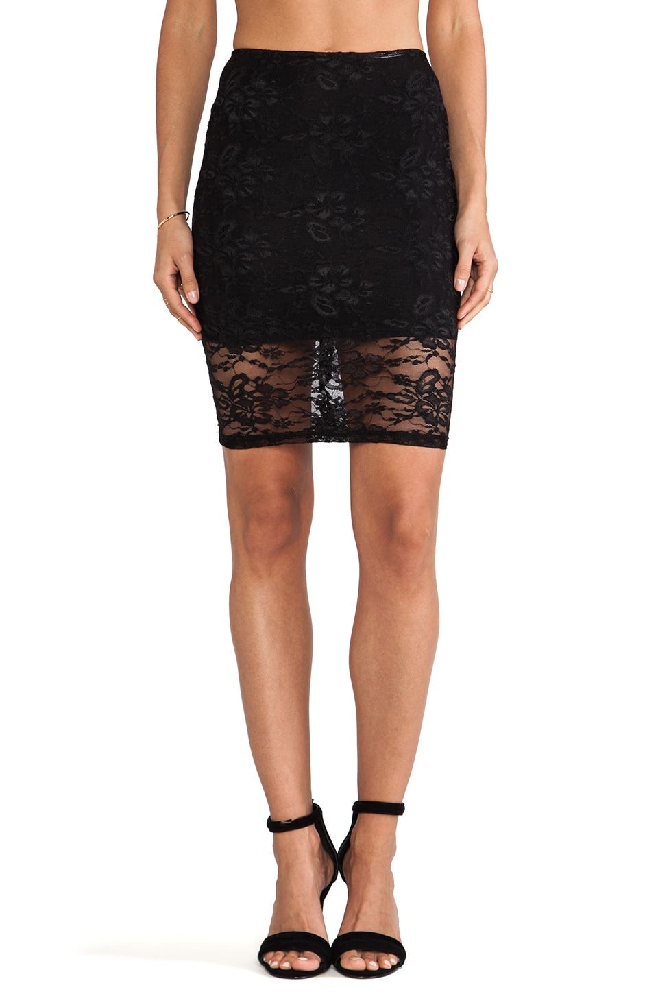 Nookie Teen Spirit Pencil Skirt in Black