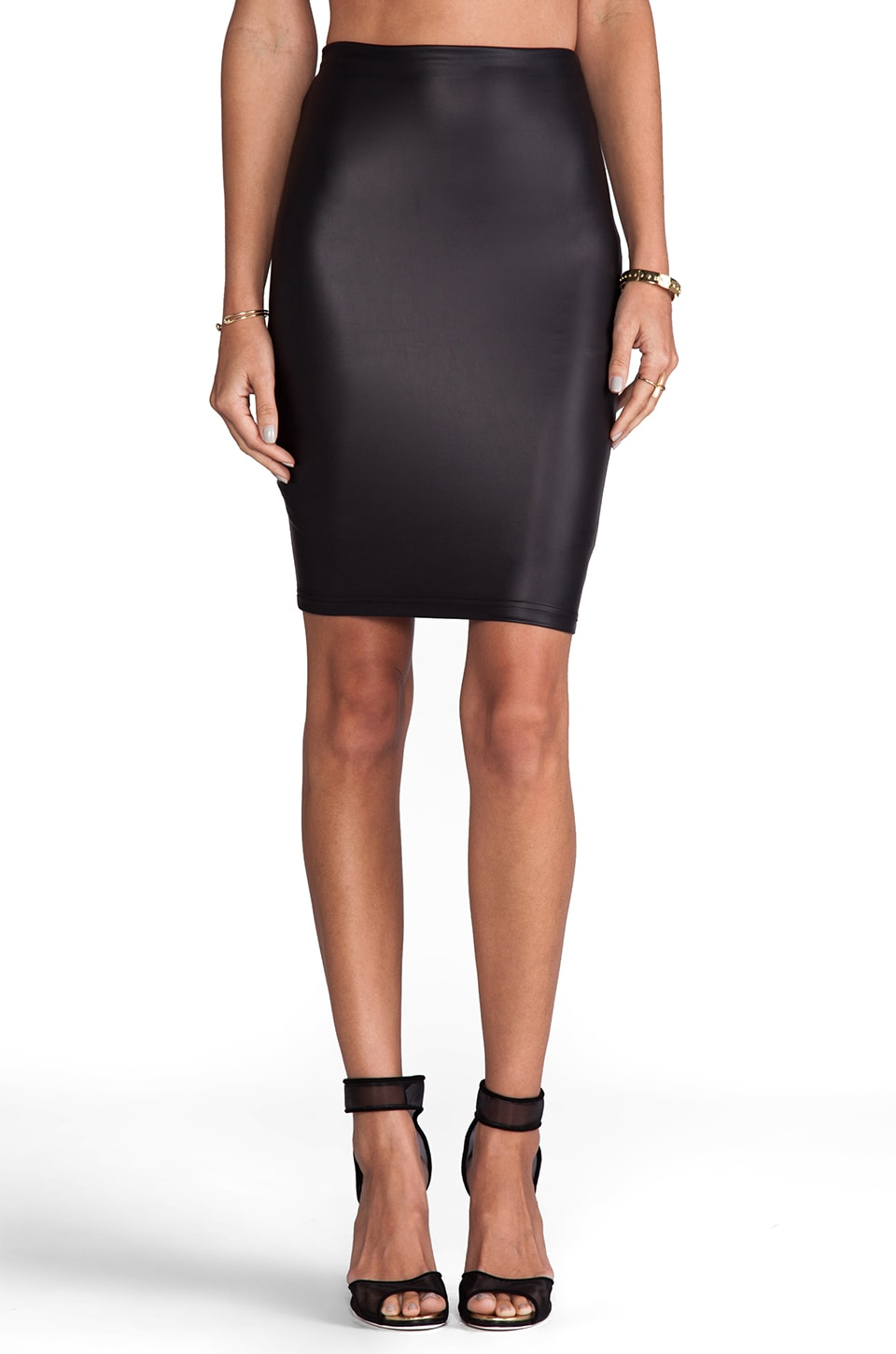 Nookie Easy Ryder Pencil Skirt in Black
