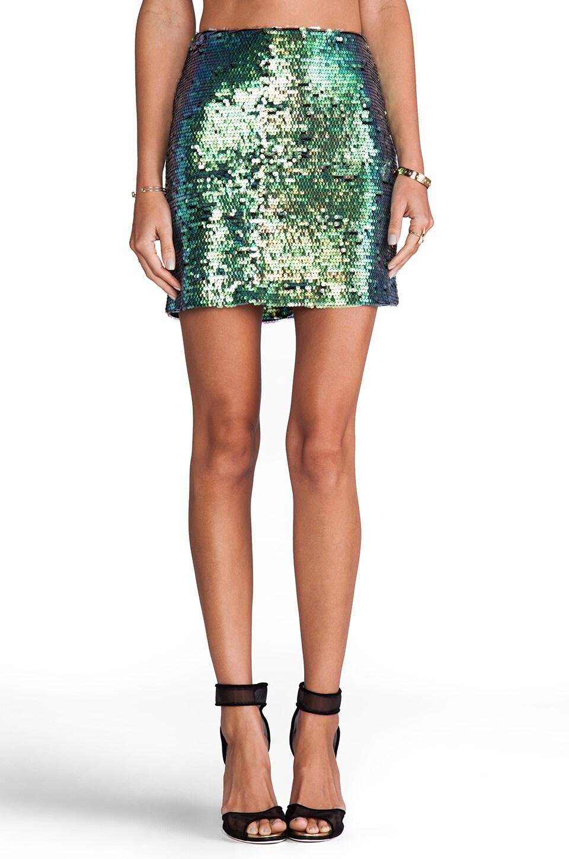 Nookie Galactica Mini Skirt in Hologram