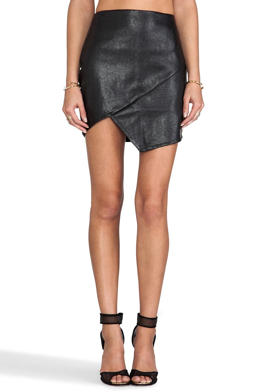 Nookie Serpent Skirt in Black