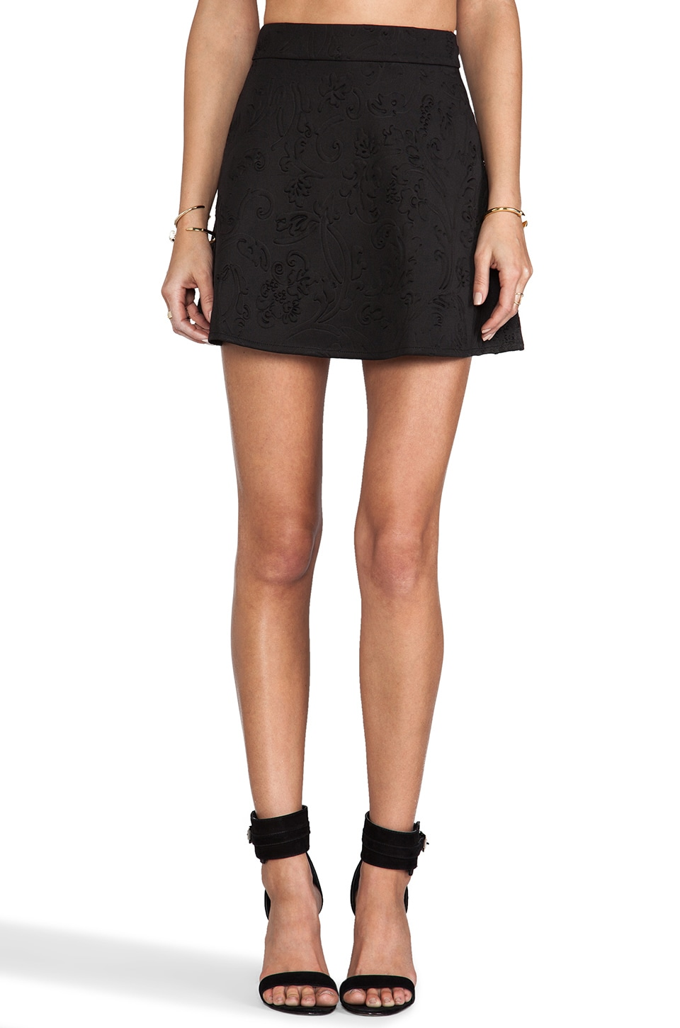 Nookie Misfits Skater Skirt in Black